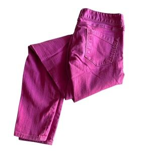 Express Pink Slim Fit Ultra Low Rise Jeans Size 0